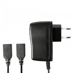 Adaptador de corriente a 5V - 2.5A con dos puertos USB (hembra)
