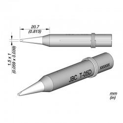Punta 1.5 x 1 mm JBC T-05D para Soldadores JBC 30ST / 40ST / SL 2020 / IN 2100