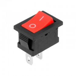 Interruptor basculante unipolar rojo 5A/250VCA - YZ182R