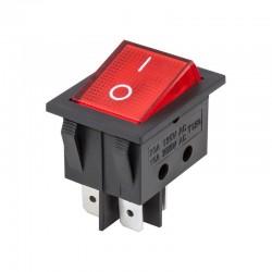 Interruptor basculante bipolar con luz 15A/250VCA - YZ099