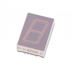 Display de 1 dígito 25mm cátodo común SÚPER-VERDE - SC10-21SGWA