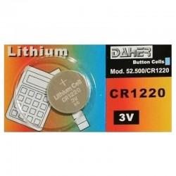 Pila de botón CR1220 3V de Daher (40 mAh) - CR1220