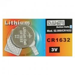 Pila de botón CR1632 de 130 mAh a 3V Daher