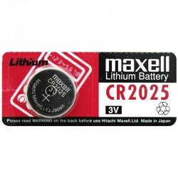 Pila de botón CR2025 de 210 mAh a 3V marca Maxell