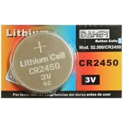 Pila de botón CR2450 3V de Daher