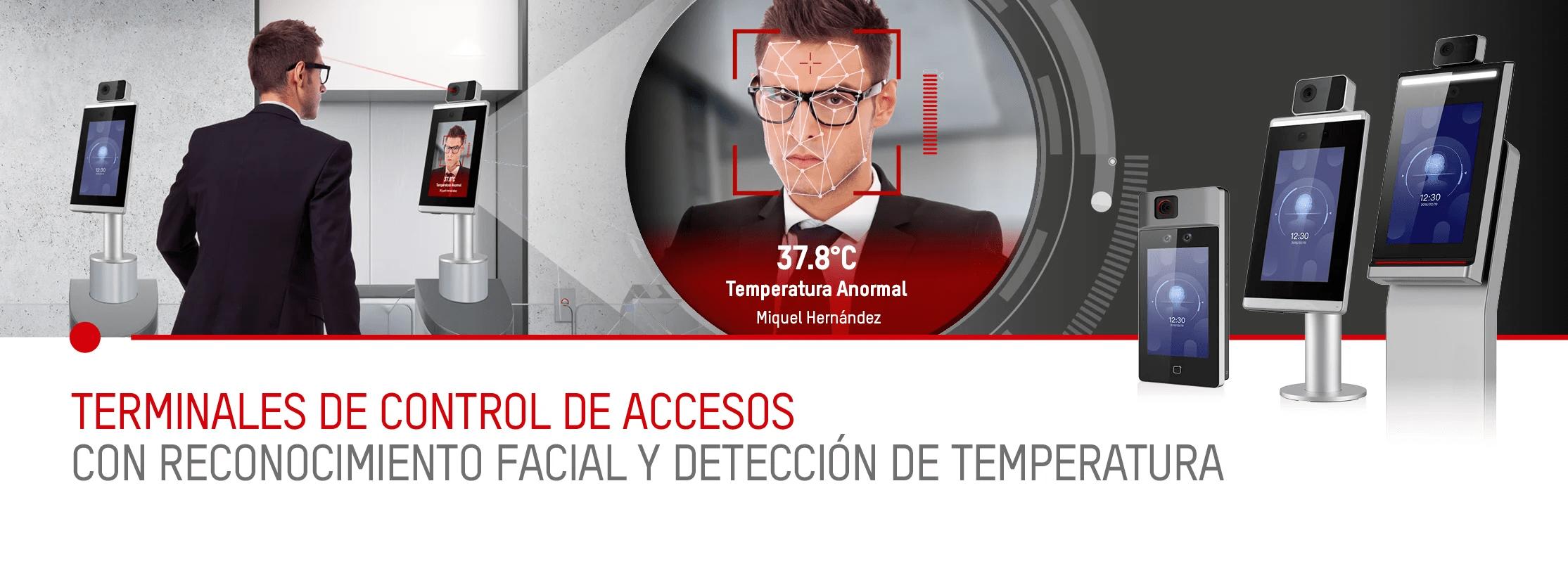 Control de presencia con detección de fiebre y mascarilla