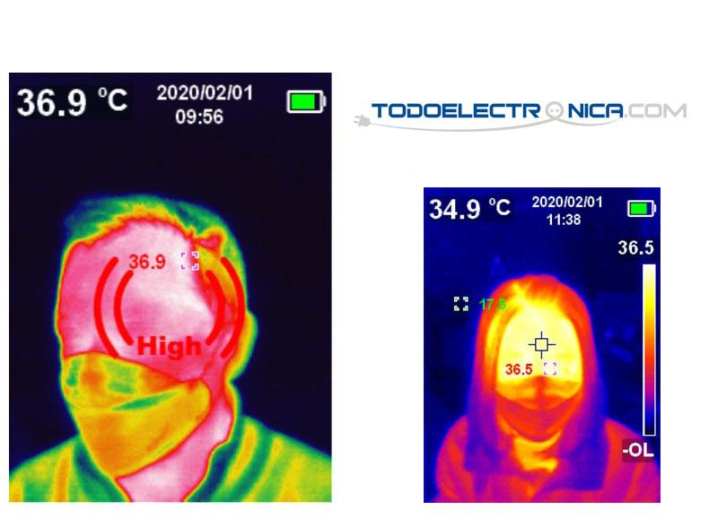 medicion de fiebre a personas por imagen termica